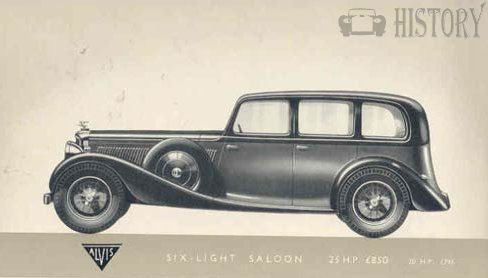 1938 Alvis Crested Eagle six light car