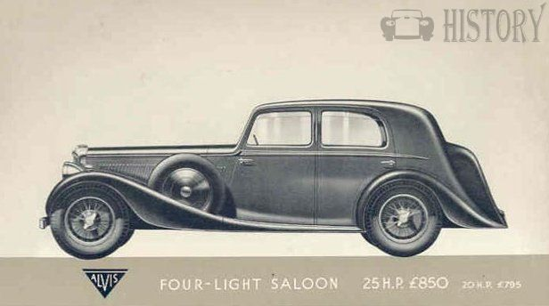 1938 Alvis Crested Eagle four light car