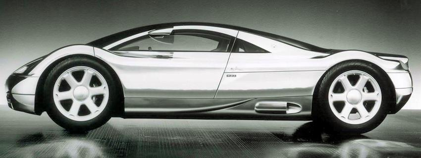 Audi Avus Quattro concept car side view from 1991