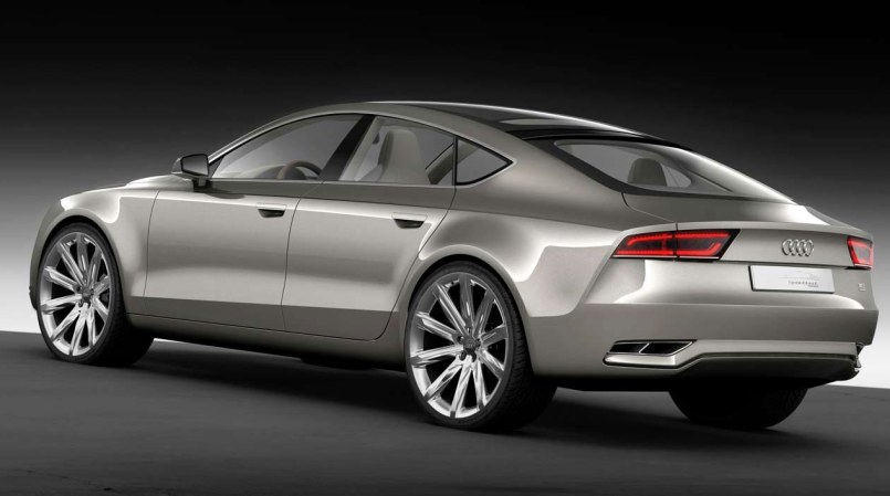Audi Sportback concept car rear view