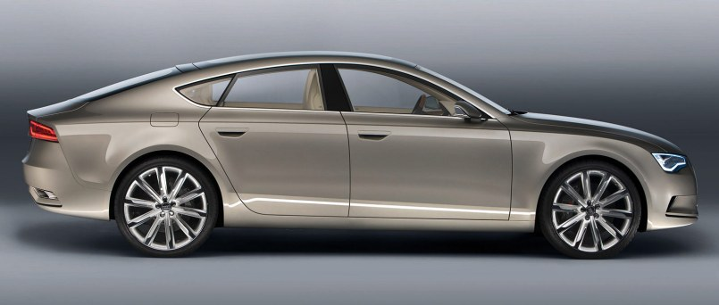 Audi Sportback concept car side view