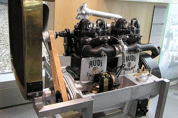 Audi Type C engine view
