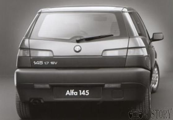 First Alfa Romeo 145 rear view from 1994