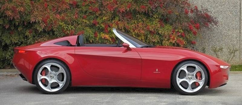 Alfa Romeo 2uettottanta side view