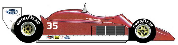 Alfa Romeo 177 Formula One side view