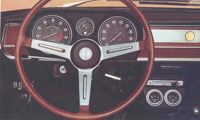 1969 Alfa Romeo Giulia 1600 Super dash view
