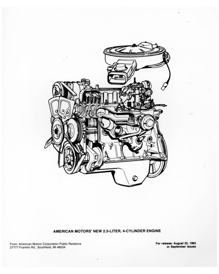Amc Engines Amc Straight 4 Engine 1984 2002
