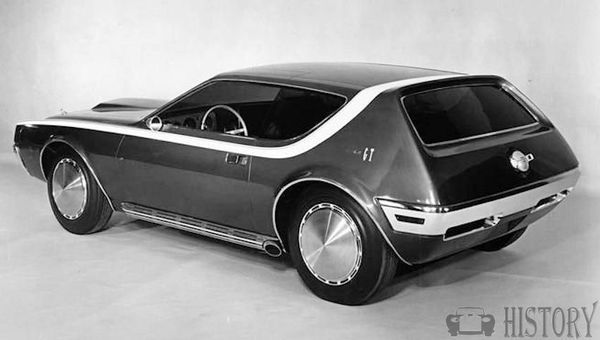 AMC AMX-GT concept car from 1968 rear view