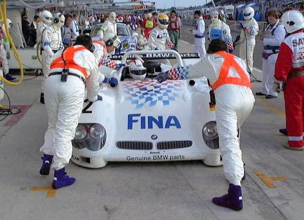 BMW V12 LM Race car at le mans in 1998