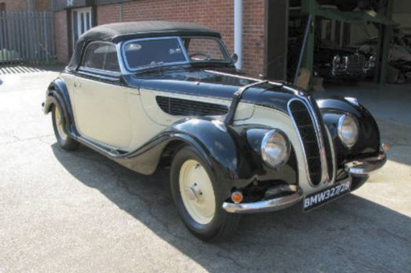BMW 327 car history 1937 to 1953