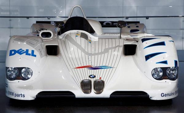 BMW V12 LMR Race car front view
