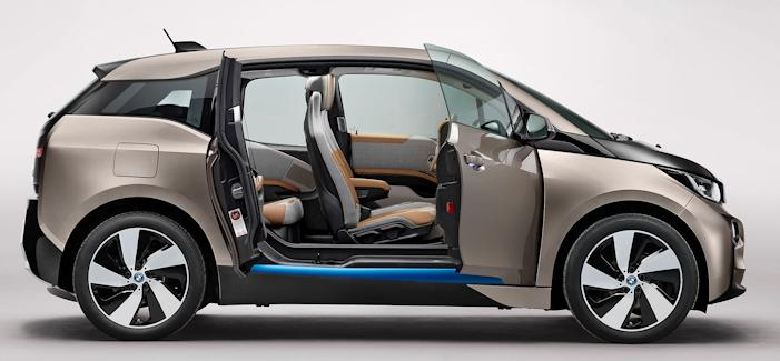 BMW i3 with doors open view