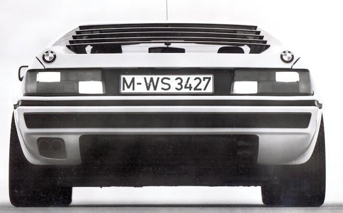 BMW M1 rear view from 1978