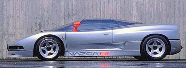 BMW Nazca C2 concept car from side view