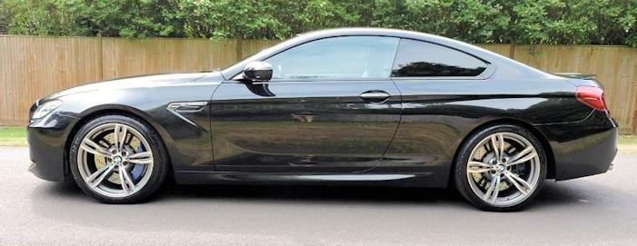 BMW M6 Third generation side view 2013