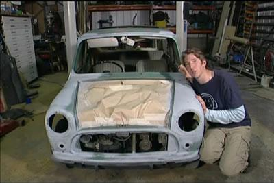 Edd with the mk1 mini in wheeler dealers series 1
