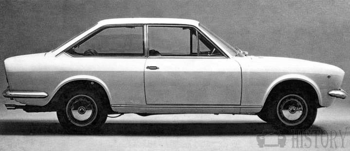 Fiat 124 Coupe side view