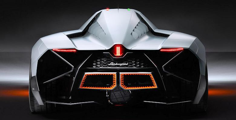 Lamborghini Egoista Concept car rear view