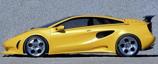 Italdesign Calà, was a concept car Lamborghin side view