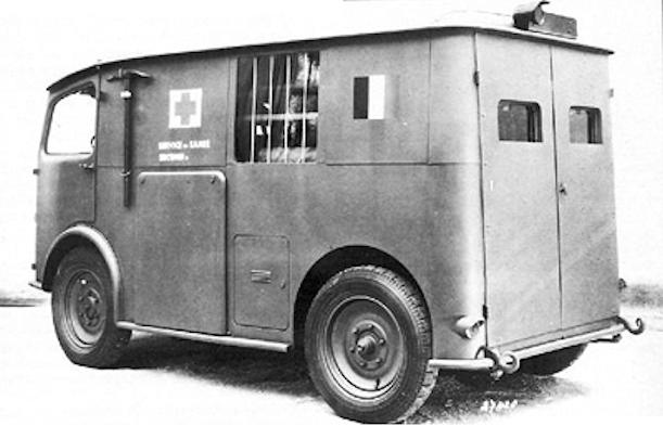 Citroën TUB van rear view 1939 to 1941