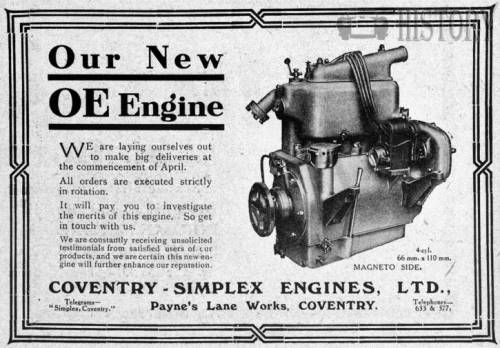 Coventry Simplex oe engine
