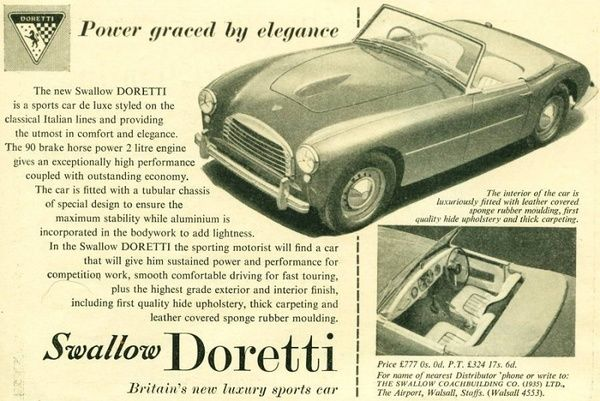 Swallow Doretti Cars history