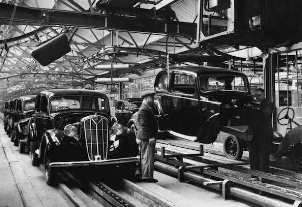 overview of early British car manufactures.