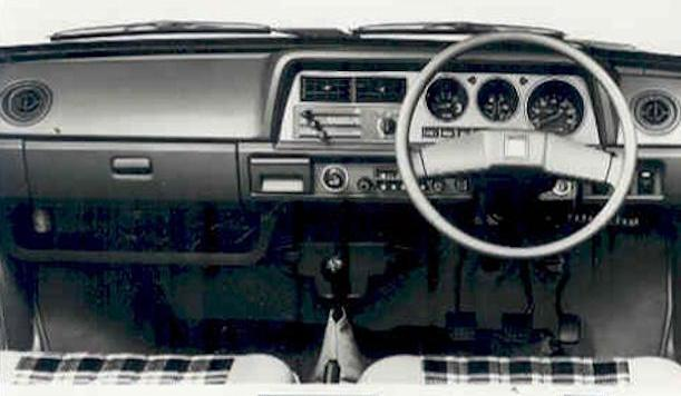 Daihatsu Charade First generation dash view (1977–1983)