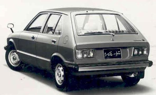Daihatsu Charade First generation rear view (1977–1983)