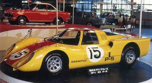 Daihatsu P5 race car side view