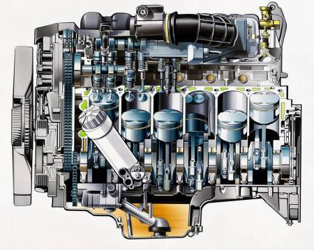 Mercedes-Benz M120 V12 engine x ray view