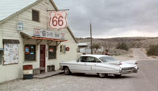 1959 Cadillac Fleetwood 60 Special in Roadhouse 66,film 1984