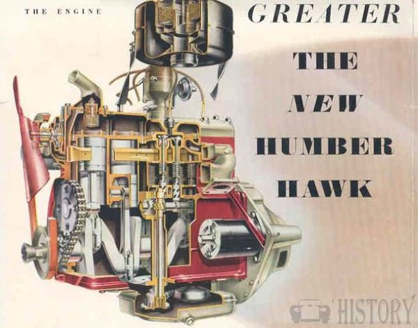 1954 Humber Hawk engine