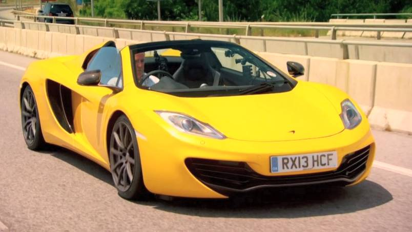 2013 McLaren 12C Spider in Top Gear,