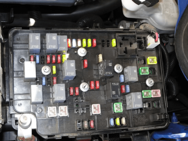 Typical car Fuse Panel