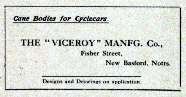 Viceroy Sidecar history (1915)