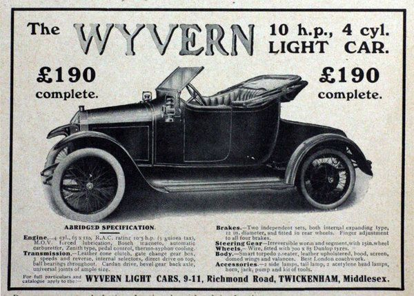 Wyvern motor car history