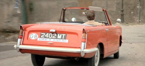 Triumph Herald Convertible in Two for the Road movie
