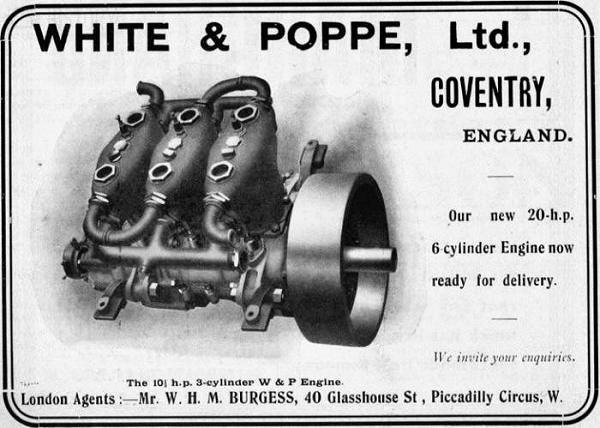 White and Poppe car engine History