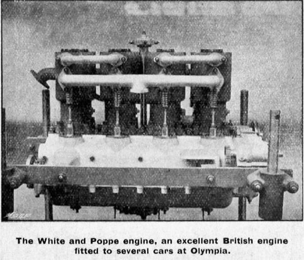 White and Poppe car engine