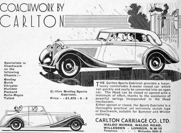 Carlton Carriage Co history