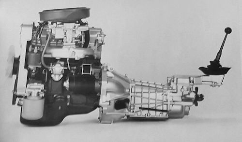 Fiat 125 Special engine and gearbox