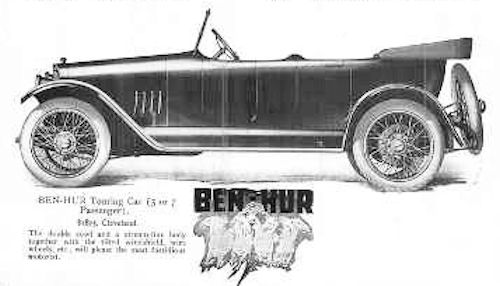 Ben Hur Motor Company Automotive manufacturer of Willoughby, Ohio, USA from 1916 to 1918.