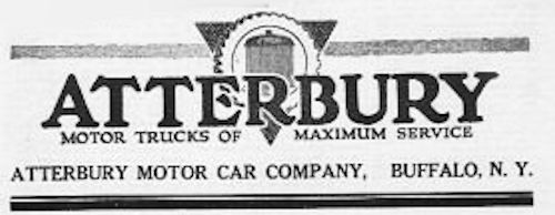 Atterbury Motor Truck Company  Automotive manufacturer Buffalo , New York , United States from 1904 to 1935