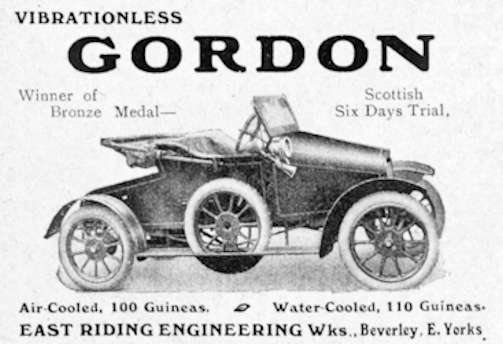 Gordon Armstrong East Riding Garage Automotive Manufacturer of United Kingdom from 1909 to 1916