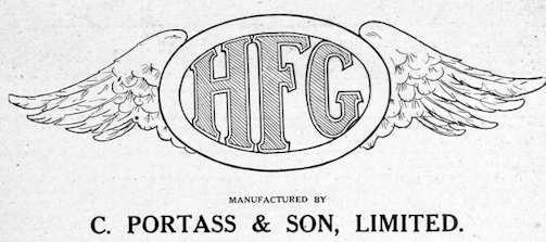 HFG (Heeley Motor & Manufacturing Company Ltd.) Automotive Manufacturer of Sheffield; United Kingdom from 1919 to 1921