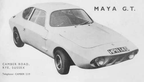 Maya (W. West Engineers Ltd.)  Automotive Manufacturer of Sussex; United Kingdom from 1967 to 1969