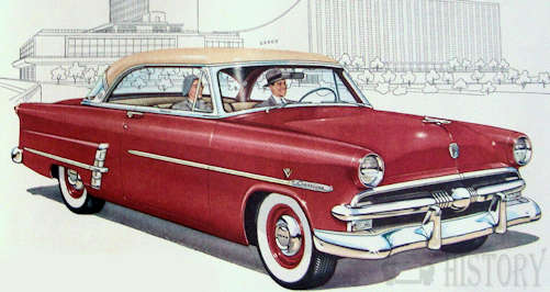 Ford Crestline car history from 1952 to 1954