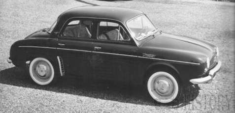 Renault Dauphine Gordini car History from 1957 to 1967