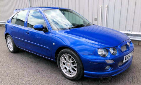 MG ZR car history